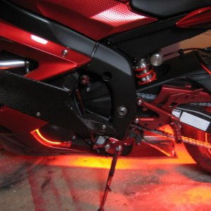 anodized red rearset