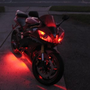 Lit up for a late night ride