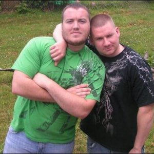 Me (green shirt) and my brother Ryan