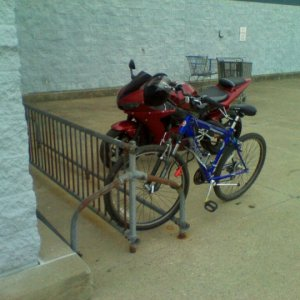 parking at the bike rack