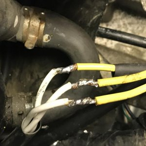 Eliminate the electrical multi-connector between the stator and reg/rec. Solder the wires stator to reg/rec wires together. Use heat shrink tubing to