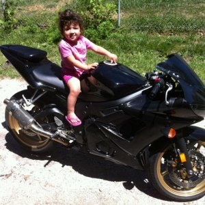 My Daughter on the R6 gettin her started early