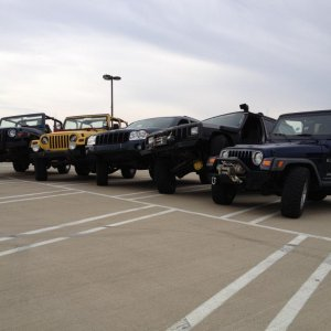 Some of the jeeps from our group Indiana Hoosier Offroad!!